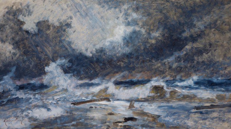 Holger Drachmann. Havet i oprør. Skagens Gren. 1900/08. SKM1480