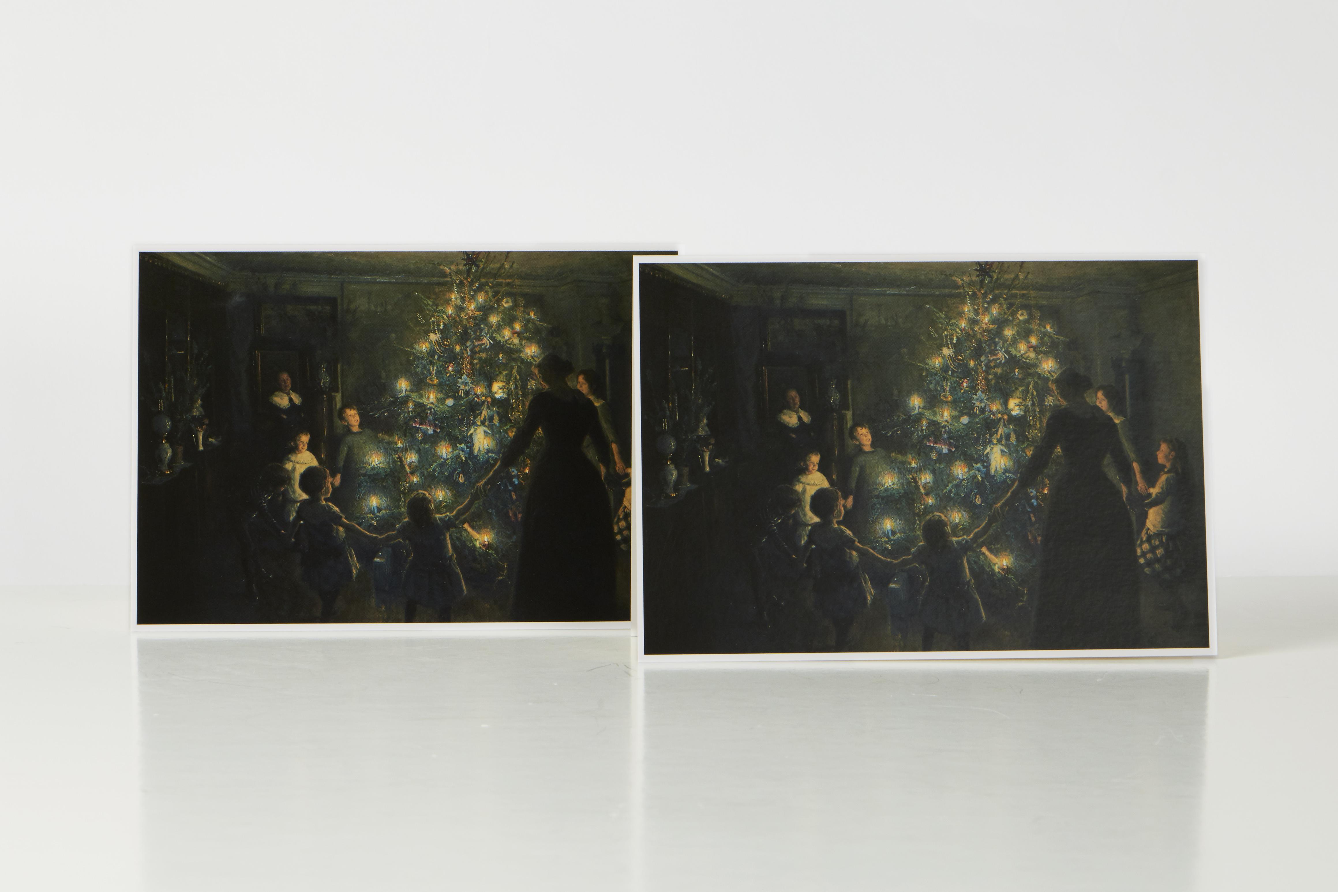 Julekort med motivet 'Glade jul' af Viggo Johansen