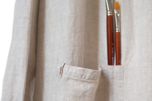 Malerkittel ANNA | Detalje af lomme