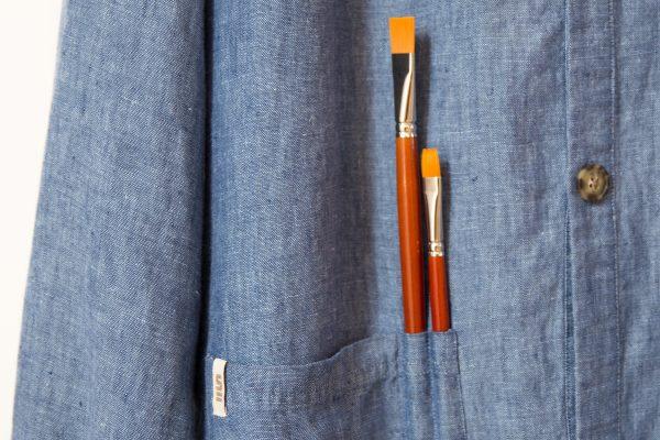 Malerkittel JUNIOR | Detalje af lomme