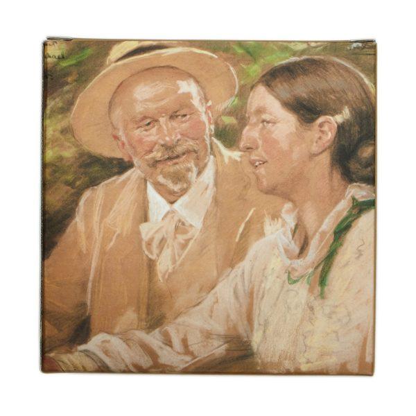 Snapseglas | P.S. Krøyer | Sølvbrudeparret