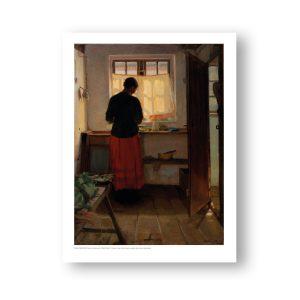 Plakat. Pigen i køkkenet