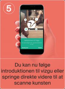 Du kan nu følge introduktionen til Vizgu eller springe direkte videre til at scanne kunsten.