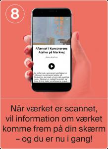 Når værket er scannet, vil information om værket komme frem på din skærm - og nu er du i gang!