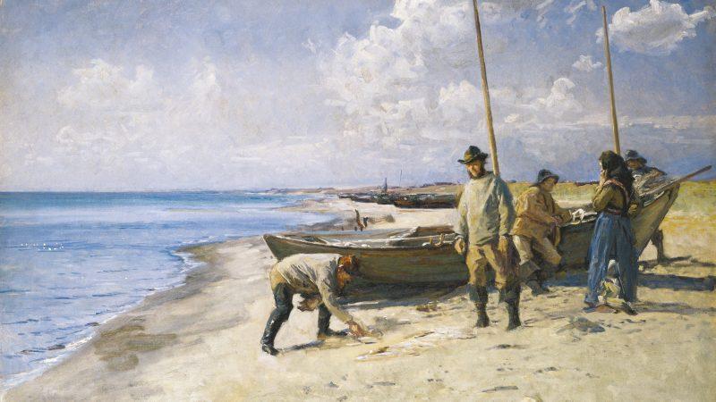 Viggo Johansen. Dividing the catch. 1885