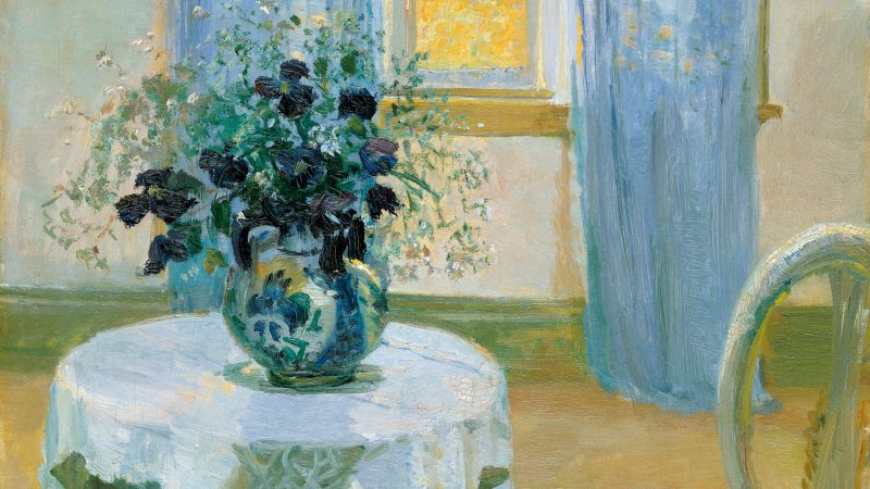 Anna Ancher. Interior with clematis. 1913 (detail)