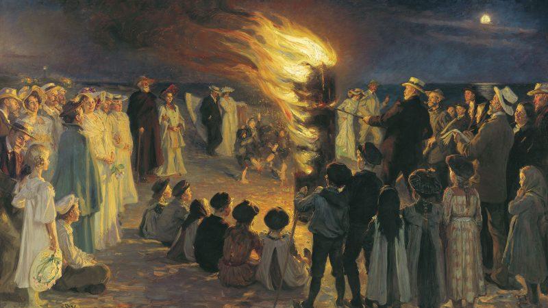 Peder Severin Krøyer: Midsummer Eve on Skagen's bonfire. 1906