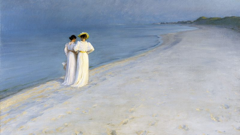 Peder Severin Krøyer: Summer evening on Skagen Sønderstrand. 1893