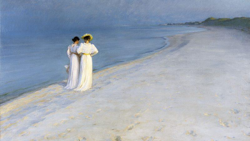 Peder Severin Krøyer: Summer evening on Skagen Sønderstrand. 1893