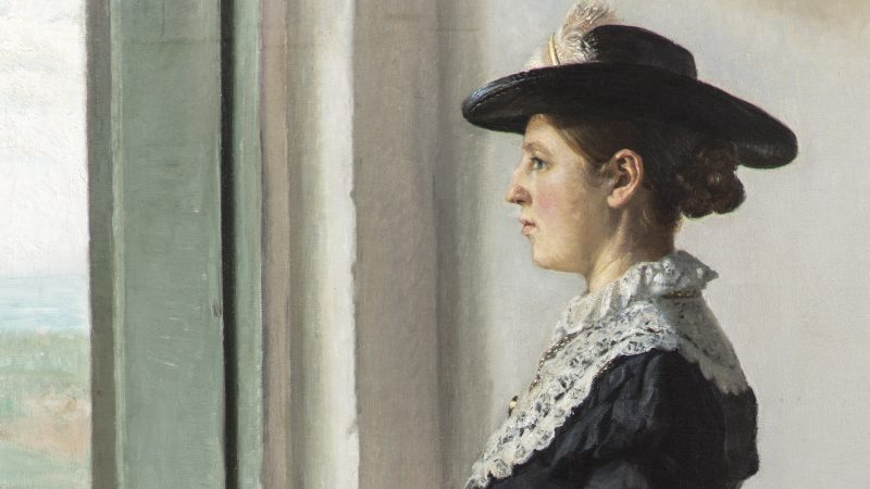 Michael Ancher. Portræt af min hustru. Malerinden Anna Ancher. 1894. (detalje) Den Hirschsprungske Samling