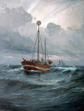 The lightship at Skagen Reef