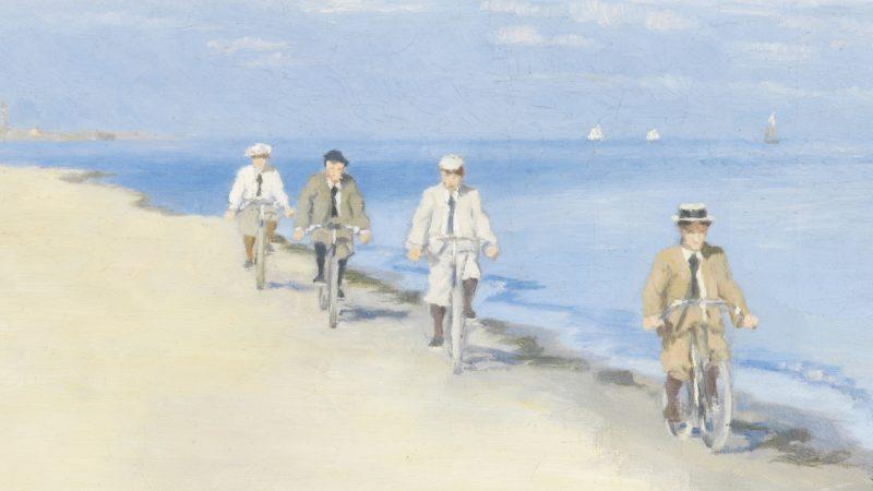 Einar Hein. Radfahrer am Strand. 1894